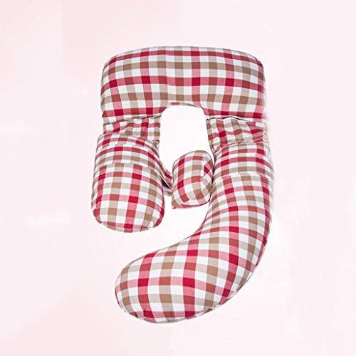 Oreillers de femmes enceintes, oreillers de ceintures, coussins, tenir des oreillers, oreillers de corps en U, fournitures de maternité, garde-corps de bébé, oreiller d'allaitement, rose, treillis. ( Color : Lattice2 )