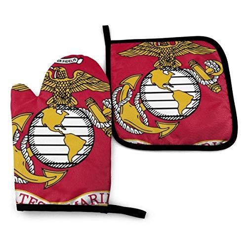 Sdltkhy Us Marine Corp Flag Manoplas y agarraderas para horn