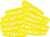 in The Fight for Someone I Love Endometriosis Bladder Cancer Sarcoma Wristband Bracelet 10-Pack (Yellow)