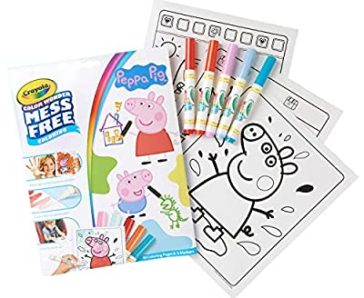 Crayola Color Wonder Peppa Pig Coloring Pages, Mess Free Coloring, Gift for Kids