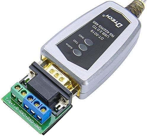 DTECH Adapterkabel USB auf RS422 RS485 Serielles Port-Konverterkabel mit FTDI-Chip, unterstützt Windows 10 8 7 XP Mac