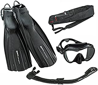 Mares Avanti Quattro Plus Fin Calypso Mask Dry Snorkel Set with Bag