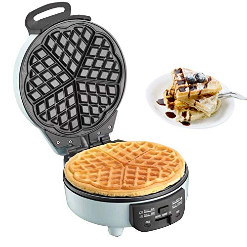 Best Deals! Belgian Waffle Maker, 180° Flip Side Waffle Maker, 5-Slice Heart-shaped Stainless Steel Anti-Overflow Waffle Iron With Temperature Control, Non-stick Plates, Cool Touch Handle, Compact & Fast, 640W