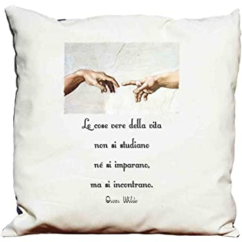 Cuscini D Autore.Cuscino Frasi D Autore Oscar Wilde 9 Amazon It Casa E Cucina