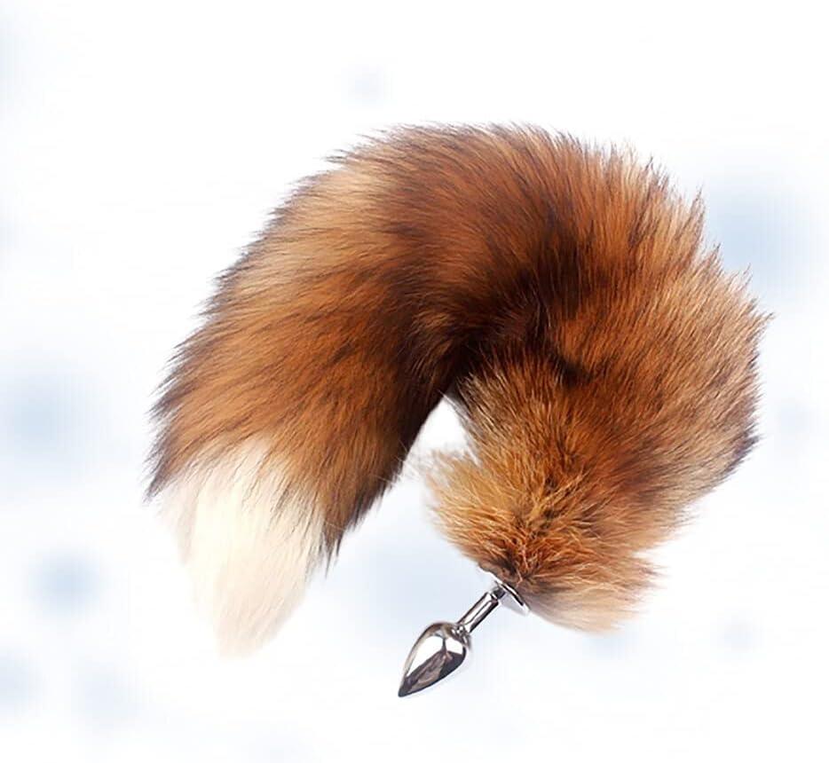 Fluffy Fur Fox Tail Plùg Co Omaha Mall Women Amàl shop Bùtt for