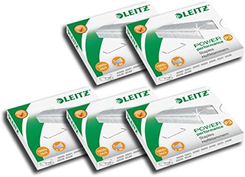 argent LEITZ Lot de 3 Boites de 2000 agrafes 24//6 Power Performance P3