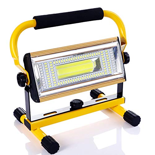 100W Projecteur de Chantier,7000LM Etanche IP65 Projecteur Chantier LED Lampe de Travail Pour Travaux d'atelier, Garage, Terrasse, Jardin [Classe énergétique A+]