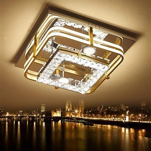 SOSO Crystal LED Lamps Ceiling, Le Salon Carr Eacute; K9 Cristal Lumière Prix Mariage Mariage Décoration Lumineux Plafond Magasin De Vêtements Magasin Mariage Mariage Lustre Décoration 50 * 50Cm Sél