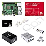 OKdo Raspberry Pi 4 4GB Starter Kit - Raspberry Pi 4 Model B 4GB, 32GB Micro SD Card with Noobs, USB C Cable, Power Supply, 2 x HDMI Cables, 3 x Heat Sinks, Aluminium Case With Fan (4GB)
