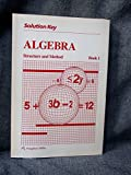 Solution Key (Algebra Structure and Method Book 1)
