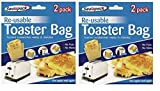 Sealapack 4 pack Reusable Toaster Toastie Sandwich Toast Bags Pockets Toasty Toastabags