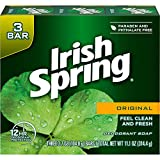 Irish Spring Deodorant Bar Soap, Original, Green Irish Spring, 11.1 Ounce