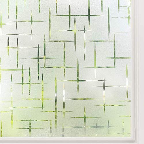 SASKATE Mattierte Fensterfolien, Sichtschutzglasfolie Fensterfolie Fenster Selbstklebende statische Fensterdekorfolie, UV-Schutzfensteraufkleber für das Home Office (17,71 x 39,37 Zoll)