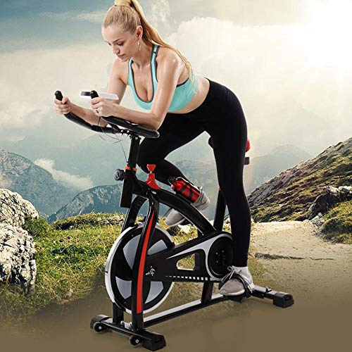 2020 NEW Shan_s Spinning Bicycle/Stationary Bike, Belt Drive Indoor Ultra-quiet Exercise Fitness Bicycle Equipment 3