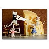 La famiglia del topo e del formaggio, 90x60 cm