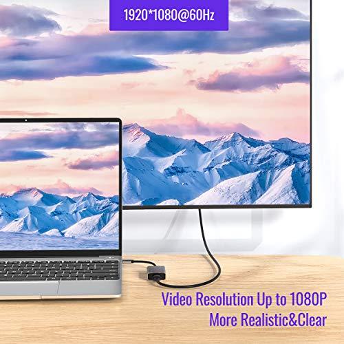 USB 3.0 zu HDMI Adapter,USB zu HDMI 1080P Full HD Audio Video Konverter Adapter für PC Laptop Kompatibel mit Windows 7,8,10, MacOS 10,12