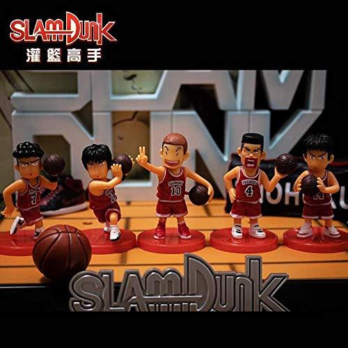 Slam Dunk Modelo De Decoración Gk Hecho A Mano Anime Hanamichi Sakuragi Rukawa Kaede Miyagi Ryota Mitsui Hisashi Versión De Segundo Elemento-q Slam Dunk Red 5 Amigo Regalo Regalo Modelo Figurilla