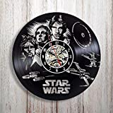 GXYtable cloth for los fanáticos de Star Wars Vinyl Record Reloj