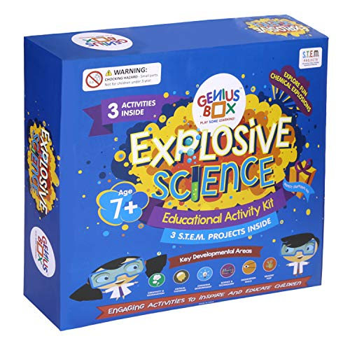 Genius Box Explosive Science 3 Activity Kit for 7 Years and Up: DIY Kit, Educational Toy, Educational Kit, STEM Toy, Science Experiment, Learning Kit