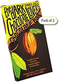 Trader Joe's the Dark Chocolate Lover's Chocolate Bar (3.5 oz/ 1.7 oz bar)(Pack of 2 / Total of 4 Bars)