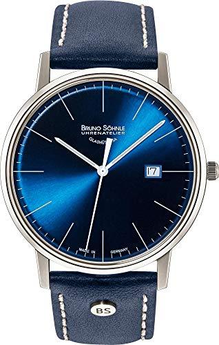 Bruno Söhnle Herren Analog Quarz Uhr mit Leder Armband 17-13175-341