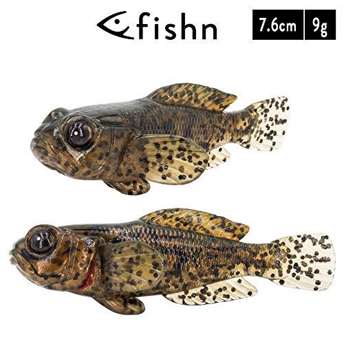 FISHN 5er Set GOBYone 7,6cm 9gr Ultra Realistische Grundel Gummifisch zum Angeln auf Barsch und (Mudd)