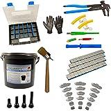 335 piezas neumático - montaje balanceo- peso adhesivo, goma válvula herramienta
