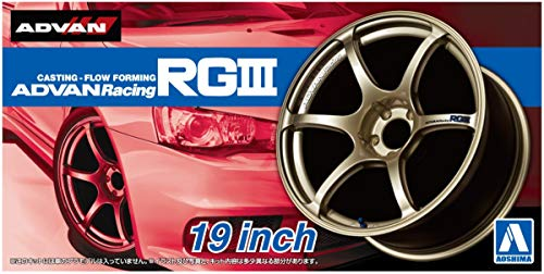 19 Zoll Advan Racing RGIII Felgen & Reifen Set 1:24 Model Kit Bausatz Aoshima 053294