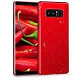 kwmobile Samsung Galaxy Note 8 DUOS Hülle - Handy Cover Case Schutzhülle - Backcover Hardcover für Samsung Galaxy Note 8 DUOS - Hochglanz Rot
