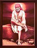 HandicraftStore Lord Sai Baba sitzend auf Felsen, EIN