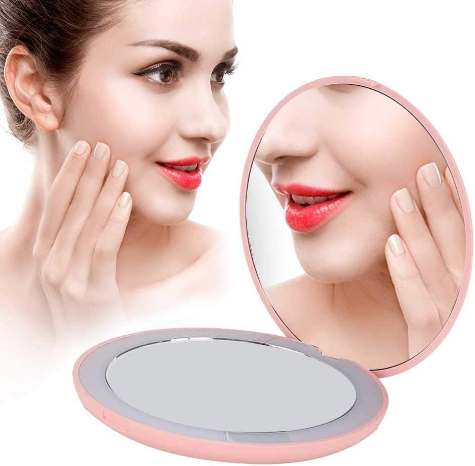 Nannday Portable Folding LED Mirror Vanit Makeup 10X Ultra-Cheap Deals Kansas City Mall Magnifying