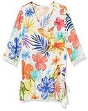 Desigual Top_Aruba Camisa Manga Larga, Blanco (Blanco 1000), Large para Mujer