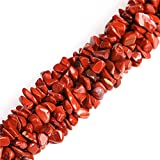 "7-8mm Red Jasper Chips Beads for Jewelry Making Natural Gemstone Semi Precious 34"" JOE FOREMAN"