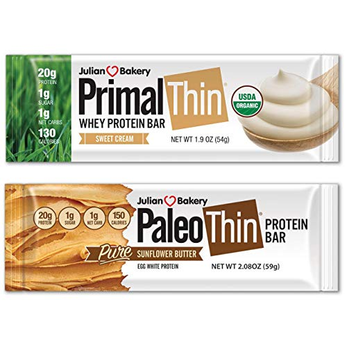 Paleo & Primal Protein Bars 12 Bars w/ 20g Organic Protein Whey & Egg White (4 Ingredients)...