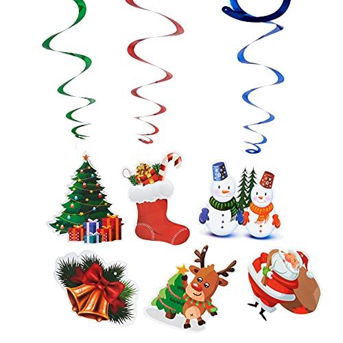 decorazioni natalizie da appendere THE TWIDDLERS 36 Decorazioni Natalizie casa da Appendere soffitto - 6 Disegni Natalizi Diversi - Ideali da Appendere al soffitto e alle finestre