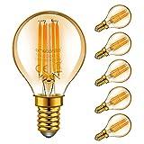 Emotionlite E14 LED Bombillas, bombillas de filamentos LED, 4W (equivalente 40W), resplandor ámbar,...