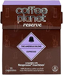 Coffee Planet Americas Blend Espresso Capsules compatible with Nespresso, 10 Capsules