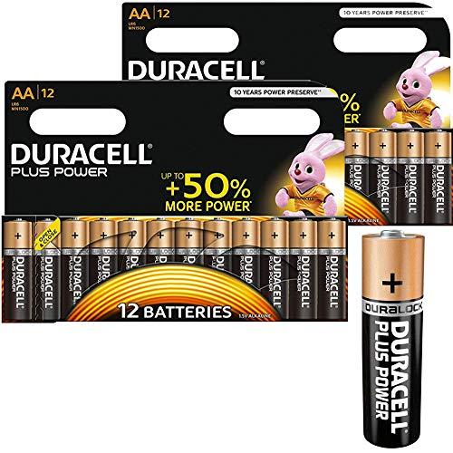 Duracell Plus MN1500 Alkalibatterien (AA), 24 Stück
