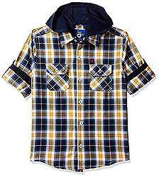 612 League Boys Plain Regular fit Shirt