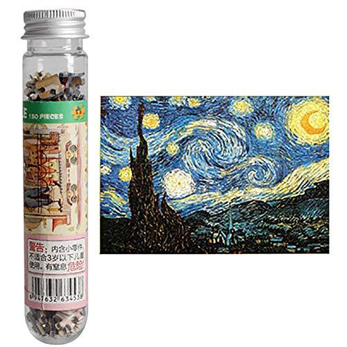 Rompecabezas de 150 piezas de mini tubo de prueba rompecabezas descompresión Toysjigsaw rompecabezas de pintura al óleo niños adultos rompecabezas (cielo estrellado)