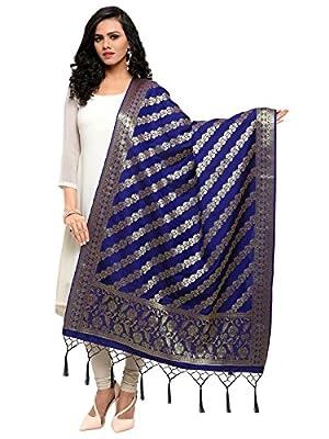 Kanchnar Women's Silk Banarasi Dupatta