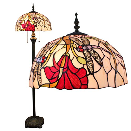 Gweat Tiffany 16-Zoll-Libelle europäische Hirtenart-eleganten Luxus kreative Handarbeit Glasmalerei Tiffany Stehleuchte