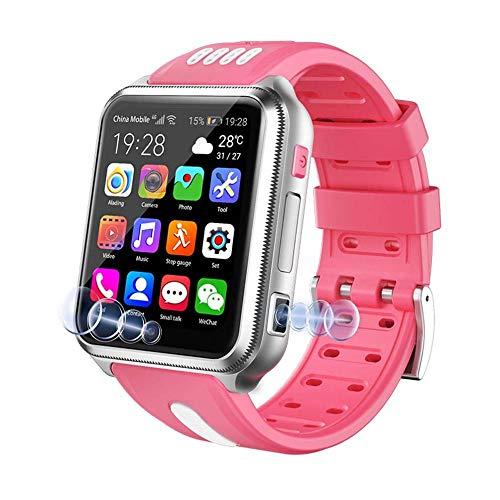 Smart Watch 4G per Bambini, Smart Watch Impermeabile per Bambini per iOS Android, con Scheda SIM e Scheda TF Dual Camera WiFi GPS Tracker Guarda Android SmartWatch-B