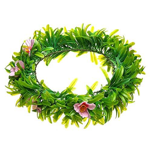 ZXLIFE@@ Flower Crown hoofdband, bruidsbloemen slingers, bloemen haarkrans, brengen een fris gevoel, gemakkelijk aan te brengen, voor bruiloften/festivals/fotografie