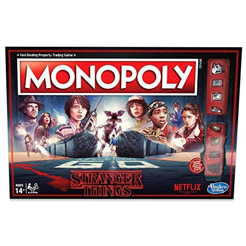 Hasbro HASC45501020 Monopoly Stranger Things, ENGLISCHE Version, Brettspiel für Kinder ab 14 Jahren