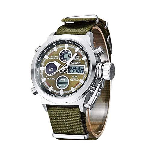OHSEN Männer Mode Sport Digitaluhren wasserdichte Leuchtende Hände Quarz-Armbanduhr