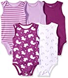 Hanes Ultimate Baby Flexy 5 Pack Sleeveless Bodysuits (Tanks), Purple Fun, 0-6 Months