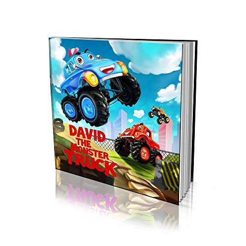 """Personalized Story Book by Dinkleboo -""""The Monster Truck"""" - A Story About Your Child and Being A Monster Truck - for Children Aged 2 to 8 Years Old - Soft Cover - Smooth, Glossy Finish (8""""x 8"""")"""