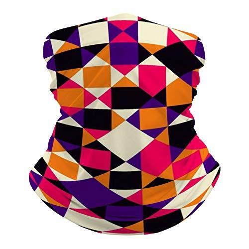 DKE&YMQ Pañuelo multifuncional unisex con patrón elástico, transpirable, para deportes, con resistencia a los rayos UV, color amarillo, naranja, rosa y ámbar