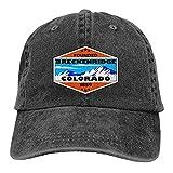 Unisex Skiing Breckenridge Colorado Vintage Jeans Adjustable Baseball Cap Cotton...